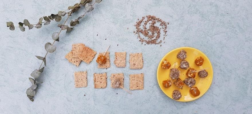 crackers aux graines de chanvre
