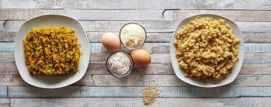 recette galette quinoa légumes